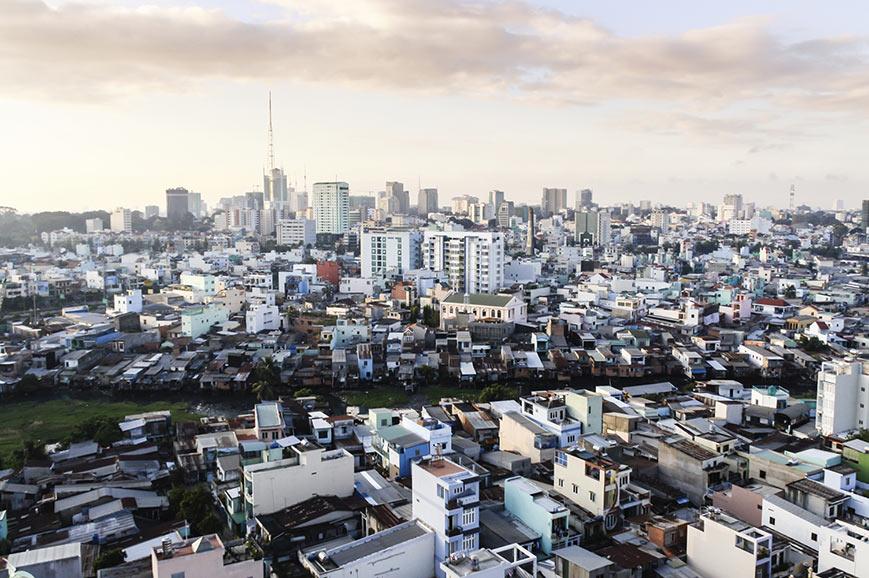 Aerial view of Saigon