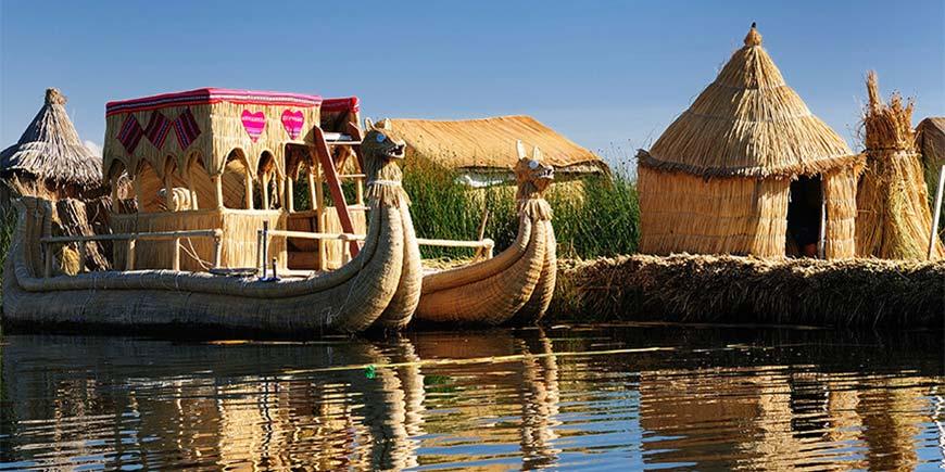 Totora Reed Fishing Boats, Puno