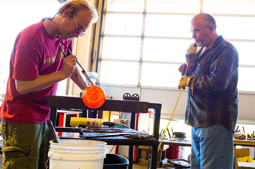Glassblowing in Rattenberg