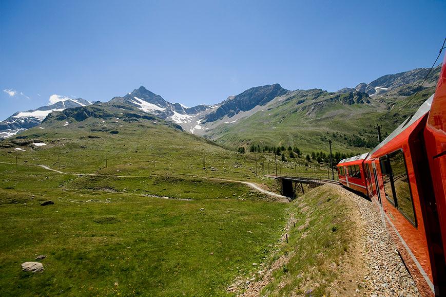Bernina Express to St. Moritz