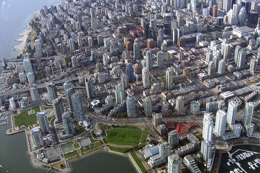 Vancouver ariel view