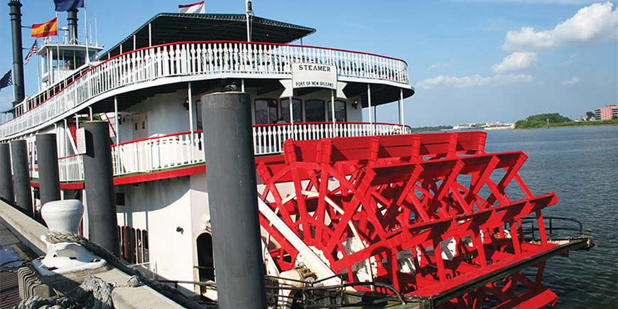 Paddle steamer, New Orleans