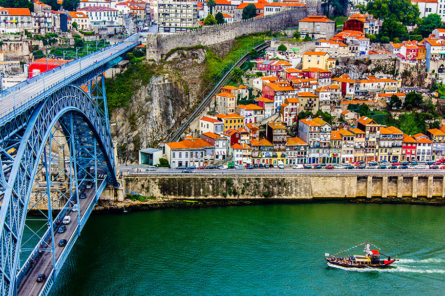 Oporto on the River Douro