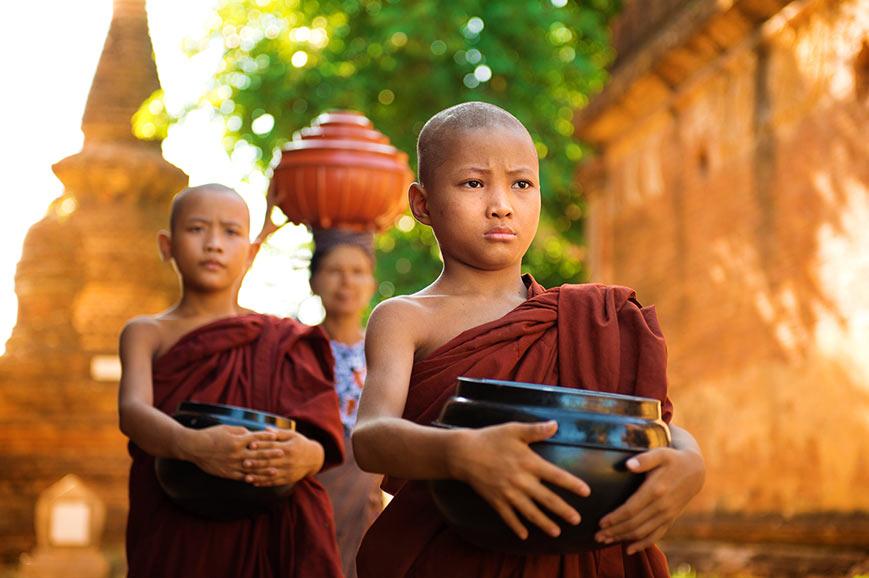 Monks in Bagan