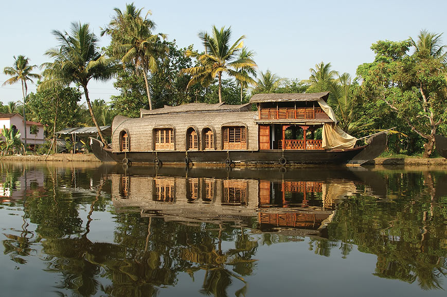 Traditional houseboat, Kerala