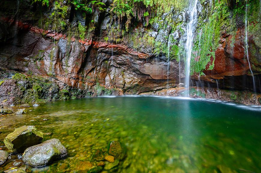 Levada waterfall