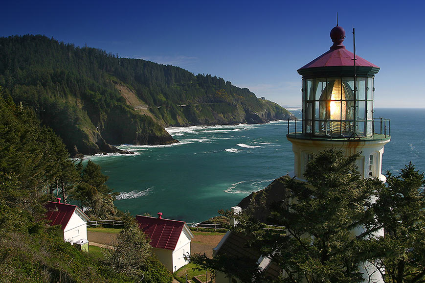 The Oregon coastline